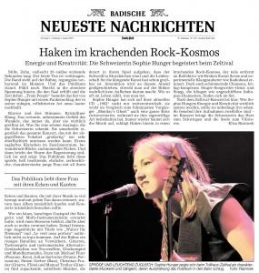 Meine BNN-Kritik zum Konzert von Sophie Hunger 2010 beim Zeltival - noch heute gültig ;-)