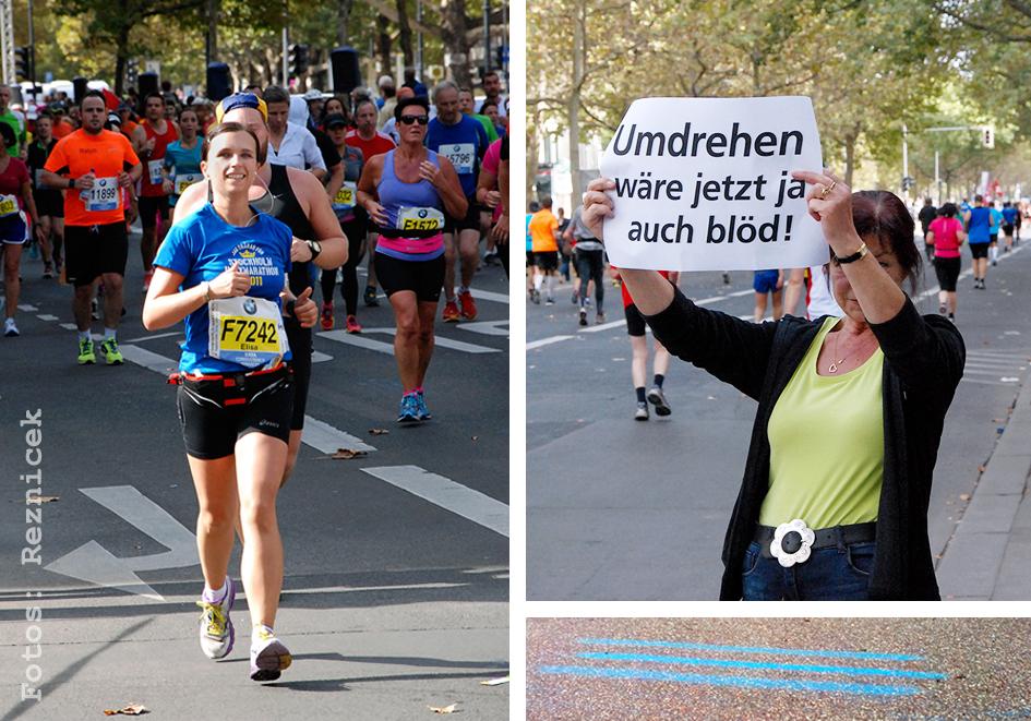 Berlin Marathon - umdrehen wäre ja jetzt auch blöd! Fotos: B. + E. Reznicek