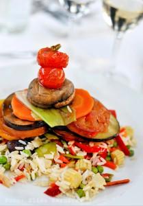 H10 Playa Meloneras Palace - Hauptgang, Reis mit Gemüse (Foto von Elisa Reznicek)