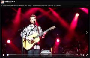"""Wer Jamie Lawson mal hören will: Ich habe ein kleines Video von """"All Is Beauty"""" gemacht, das auf meiner Facebook-Seite zu finden ist."""