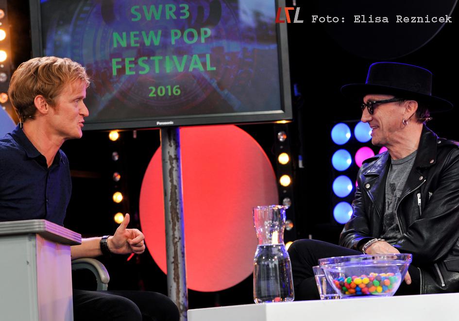 Westernhagen beim SWR3 New Pop Festival Startalk, Baden-Baden 15.9.2016 (Foto: Elisa Reznicek)