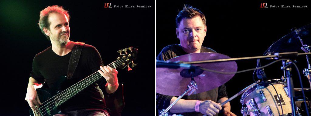 Nicolas Fiszman & Miles Bould beim Aalener Jazzfest, 11.11.17 (Foto: Elisa Reznicek, lebelieberlauter.de)
