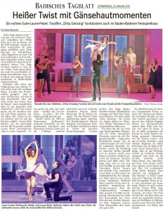 Zeitungskritik: Dirty Dancing - das Original live on tour