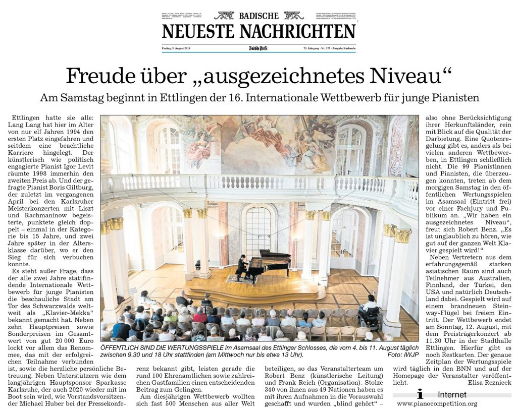 Vorbericht 16. Internationaler Wettbewerb für junge Pianisten Ettlingen (zum Vergrößern anklicken)