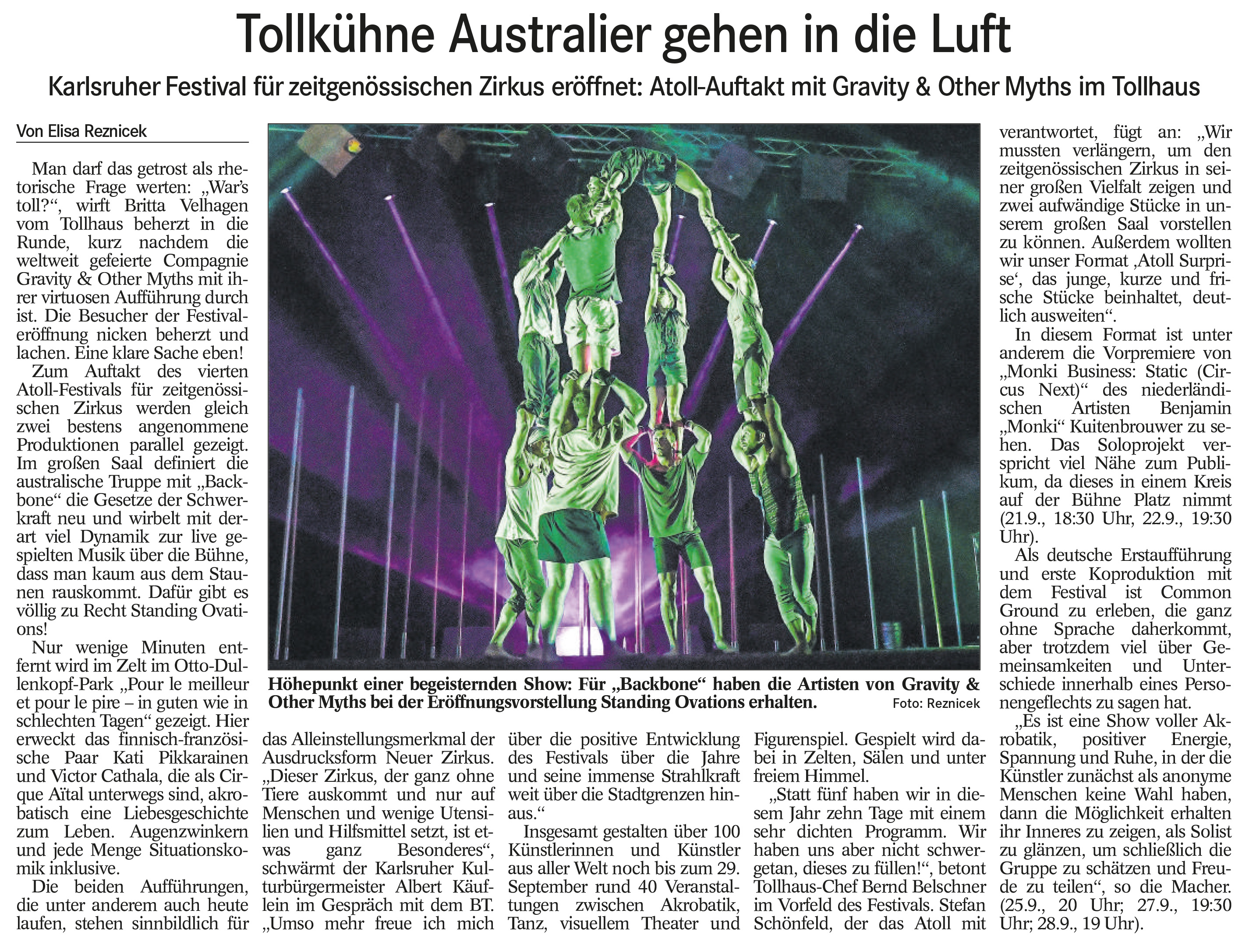 ATOLL Festival mit Gravity & Other Myths (BT 20.9.19, Text & Bild: E. Reznicek, lebelieberlauter.de)
